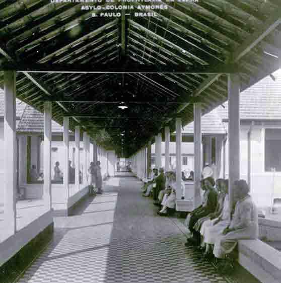 Inside the pavilions at Aimorés