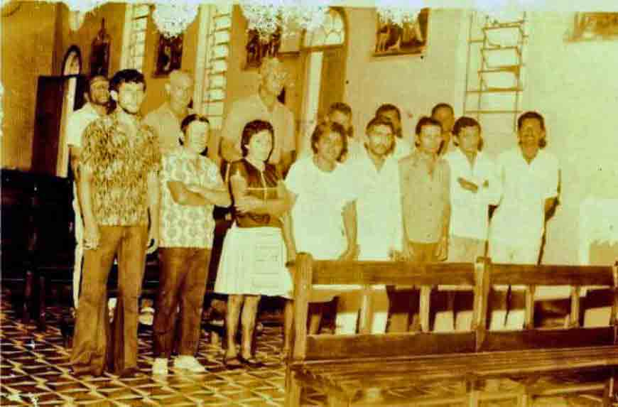 Group of students, 1978, at Colony Antonio Justa