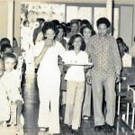 People in the Catholic church at Santa Marta