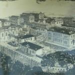 Aerial drawing of the Preventório Santa Terezinha, São Paulo