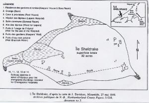 Map of Sheldrake Island