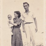Three generations: Soledad Cortez de Devia, a resident of Agua de Dios, with her son Jose Guillermo Devia Cortez and his daughter Maria Ligia Devia Angarita, photographed in 1955.