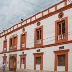 The Juan de Dios Carrasquilla building, a National Heritage site. It was built as a hospital in 1918, and now houses the Museo Medical de la Lepra and Agua de Dios's administrative offices.