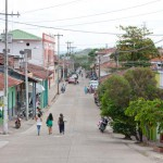 Main street in Agua de Dios