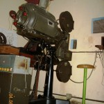 Film projector in the Vargas Tejada theatre in Agua de Dios