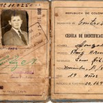 Identity card for a resident of the Contratación leprosarium. Photo courtesy of Mr Gonzalo Ruiz Arenas.