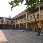 Inside the Colegio Salesiano Miguel Unia, formerly an asylum for children with leprosy. (Photo by Hernan Moya Ortiz.)