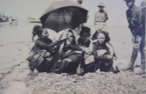 People landed on the beach at Culion (Culion Museum and Archives)