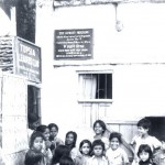 Patients and friends at TLM leprosy control clinic, Calcutta.
