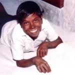 A young lepromatous patient studying, Faizabad. (TLMI Publicity Release, Mar 1993)