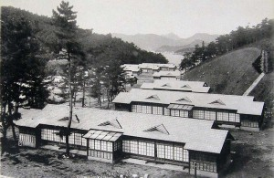 Patients' dormitories — women's area in foreground (1931)