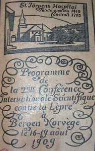 Program for the Second International Leprosy Congress in Bergen, 1909