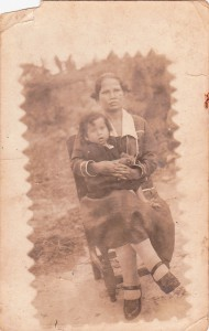 Bernarda Saenz and her daughter Maria Benedicta Angarita Saenz, two Colombian leprosy patients.