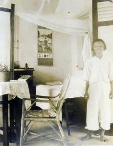 Resident's bedroom at Sungai Buloh, 1931