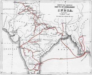 Route of Leprosy Commission in India, 1890