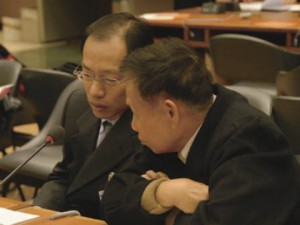 Liu Zhen Xi (right) with HANDA's Michael Chen in Geneva