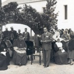 Rovisco Pais residents with a visiting bishop