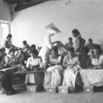 Working group of women sewing