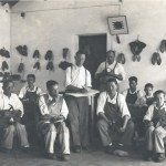 The working brigade of shoemakers. Note the mix of ages.