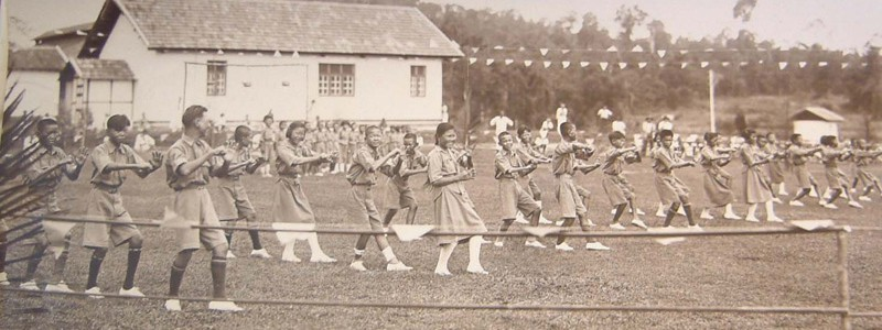 Sungai Buloh children's dance on sports day, 1932