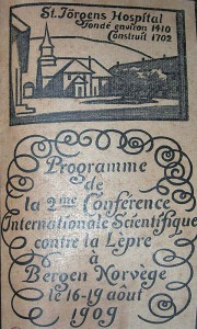 Title page of the program for the International Leprosy Conference in Bergen, 1909