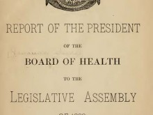 Hawaii Board of Health report on leprosy, 1886.