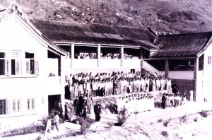 Opening of the women's block at Hay Ling Chau (an island leprosy colony, near Hong Kong)