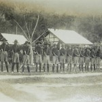 Pulau Jerejak, female camp with what appears to be guards, 1931.